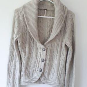 Free People Wool Blend Cardigan XS Light Beige